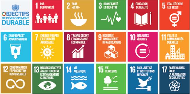 Objectifs de developpement durable de 1 a 17