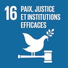 ODD 16 Objectif de developpement durable Justice et paix