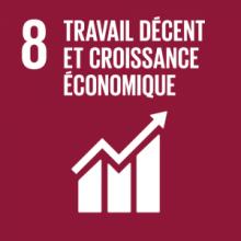 ODD 8 Objectif de developpement durable Travail decent et croissance economique